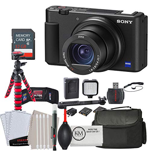 Sony-ZV-1-Digital-Camera-w-32GB-Memory-and-Striker-Advanced-Bundle