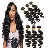 3 Bundles Of Brazilian Hair 22 24 26 Inches Body Wave Virgin Human Hair Extensions 100 Grams Natural Color Hair Grade 9a Mixed Bundle Deals Prime