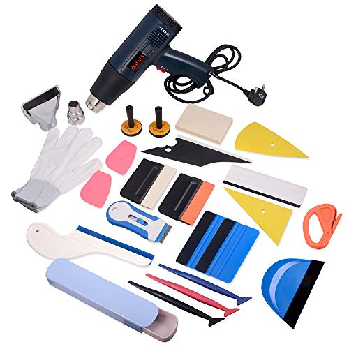 WINJUN Auto Vinyl Wrap Tool Kit for Vehicle Glass Protective Film Window Wrapping Tint Installing – Include: Squeegees
