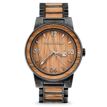 Original Grain Brown Dial Stainless Steel Men's Watch OG10SW1