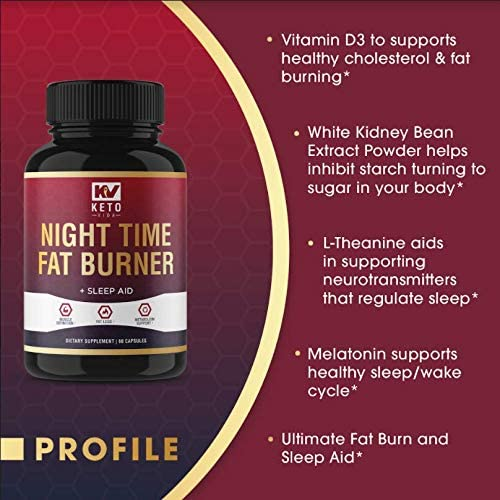 Keto Vida Weight Loss Fat Burner for Night Time to Suppress Appetite and Reduce Cravings; 30 Servings 7