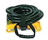 Camco Heavy Duty Outdoor Extension Cord for RV and Auto with Easy PowerGrip Handle- 50 Amp, 6/8-Gauge, Includes Convenient Carrying Strap - 30ft (55195)