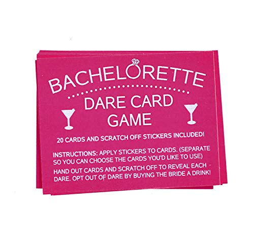 Bachelorette Dare Card Party Game, 20 Scratch Off Cards