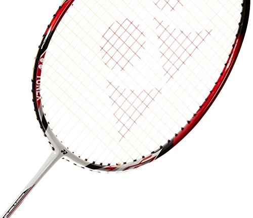 Yonex Badminton Racket Nanoray Series 2018 with Full Cover Professional Graphite Carbon Shaft Light Weight Competition Racquet High Tension Fast Speed Performance (NR7000I - White/Red, Pack of 1)