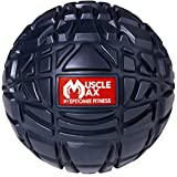 Muscle Max Massage Ball - Deep Tissue Massager for Trigger Point, Myofascial Release & Self Massage Comes with Travel Bag