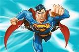 1/4 Sheet ~ Superman Flying Birthday ~ Edible Image Cake/Cupcake Topper!!!