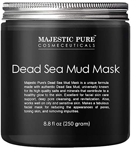 MAJESTIC PURE Dead Sea Mud Mask for Face and Body - Natural Skin Care for Women and Men - Best Facial Cleansing Clay for… 1