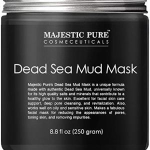 MAJESTIC PURE Dead Sea Mud Mask for Face and Body - Natural Skin Care for Women and Men - Best Facial Cleansing Clay for… 2