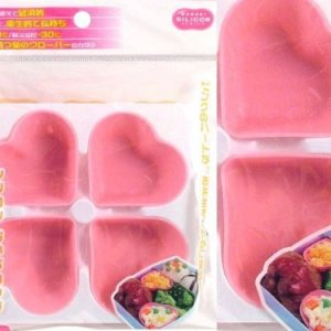 4 pc Silicon Food Sushi Mould Cup for Bento Lunch Box (Hearts) 519uX3XBZtL