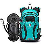 ROCKRAIN WindSeeker Insulation Hydration Cycling Backpack Pack with 2.5L BPA Free Leak Proof Water Bladder, Sufficient Storage Space for Outdoor Gear, for Cycling (Blue)