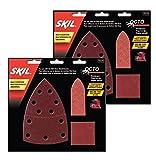 Skil (2 Pack) Octo Sandpaper Kit, Asst Grit - 15 Pack 2610938257 # 73114-2pk