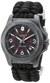 Victorinox Swiss Army Men's I.N.O.X. Titanium Swiss-Quartz Watch with Nylon Strap, Black, 24 (Model: 241776)