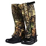 Rainbow Finch Waterproof Camo Leg Gaiters Durable Snow Legging Leg Cover Wraps for Hiking Climbing Hunting Outdoor Sports
