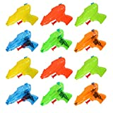 Acekid Mini Squirt Guns, 12pcs Water Blaster Soaker Set, Kids Water Pistol Plastic Toys for Birthday Party Favors, Pool Beach Toys, Hot Summer Classic Water Games