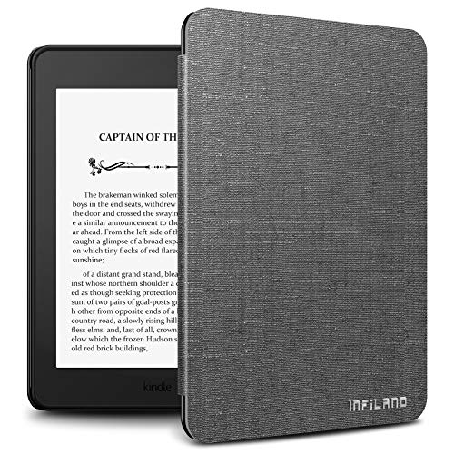 Infiland Kindle Paperwhite 2018 Case, Lightweight Shell Case Cover Compatible with All-new Amazon Kindle Paperwhite 10th Generation 6' 2018 Release(Auto Wake/Sleep),Gray
