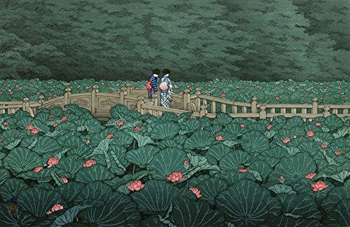 """Japanese Art Print """"Benten Pond at Shiba"""" by Kawase Hasui"""
