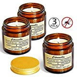 Vanrener Citronella Candles, Jar Candle, Indoor and Outdoor, 25 Hours Burn 100% Soy Wax Glass Candle (3 Pack)