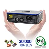 AAXA 4K1 LED Home Theater Projector, 30,000 Hour LEDs, Mercury Free, Native 4K UHD Resolution, Dual HDMI with HDCP 2.2, 1500 Lumens, E-Focus