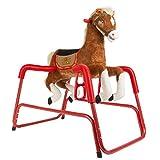 Rockin\ Rider Lucky Talking Plush Spring Horse