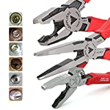 VamPLIERS World's Best Pliers VT-001-S3F Rusted/Damage/Security Screw Extraction Pliers Best Holiday Christmas Gift Ideal for Corporate/Friends/Family, Makes the Best Gift (VT-001-S3F Set)