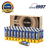 ALLMAX All-Powerful Alkaline Batteries- AA (60-Pack), Ultra Long Lasting, Leak-Proof, 1.5V Cell