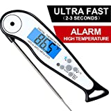 [Upgraded 2019] Instant Read Meat Thermometer,Digital Meat Thermometer with Thermocouple Instant Read for Kitchen Cooking Food Candy Thermometer for BBQ Grill Smoker Deep Fry Oil Thermometer (black)