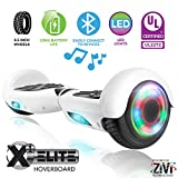 ZIVI Hoverboards with Bluetooth Speaker and LED Lights (White, 6.5)