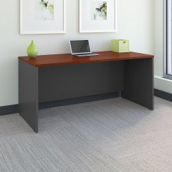 Bush Business Furniture Series C 66W x 30D Office Desk in Hansen Cherry