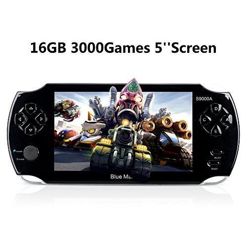 "Handheld Game Consoles, 16GB 5"" Screen 3000 Classic Portable Game Console, Christmas and New Year's Best Gift for Kids (Black)"