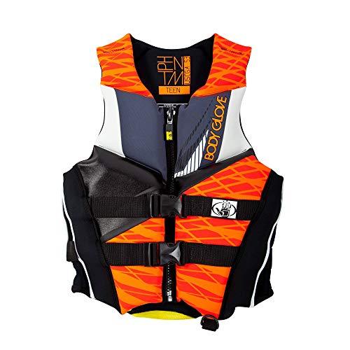 Body Glove Wetsuit Co Men's Phantom Neoprene US Coast Guard Approved PFD Life Jacket, Orange/Black, Medium