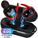 [Upgraded 2020] Premium True Wireless Earbuds - 30 Hours Total with Strong Bluetooth 5.0, IPX8 Waterproof TWS Stereo Headphones in-Ear Built-in Mic Headset Sound with Deep Bass for Sport, Gym, Running