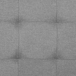 AmazonBasics Faux Linen Upholstered Tufted Headboard – Full, Grey