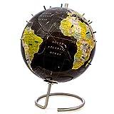 Bullseye Office Magnetic World Globe (Black)