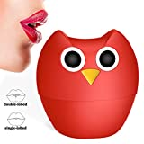Lip Plumper Enhancer - MEXITOP NANA Owl Soft Silicone Lip Filler Plumping Device, Natural Fuller Thicker Sexy Quick Lip Enhancement Enlarger Tool, Amazing Effect Using w/Lip Gloss (Multiple Styles)