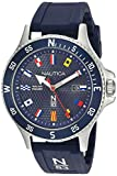 Nautica N83 Men's NAPCBS904 Cocoa Beach Solar Blue/Silver Silicone Strap Watch