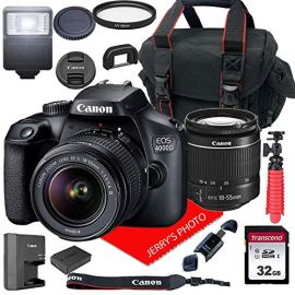 Canon-EOS-4000D-DSLR-Camera-wCanon-EF-S-18-55mm-F35-56-III-Zoom-Lens-Case-32GB-SD-Card-15pc-Bundle