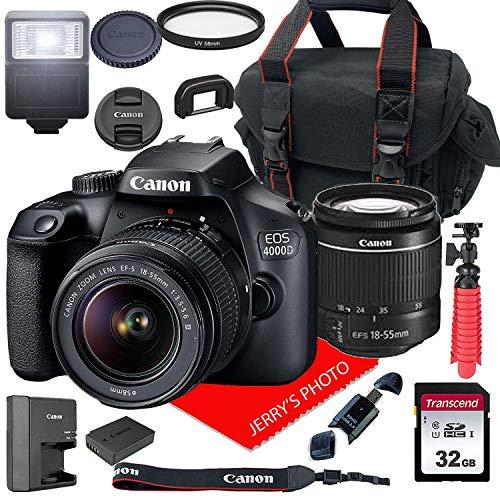 Canon-EOS-4000D-DSLR-Camera-wCanon-EF-S-18-55mm-F35-56-III-Zoom-Lens-Case-32GB-SD-Card-15pc-Bundle
