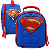 "Licensed Chest Shaped Hero Lunch Bag - 10"" H (Superman)"