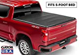 Gator ETX Soft Tri-Fold Truck Bed Tonneau Cover | 59107 | fits Chevy/GMC Canyon/Colorado 2004-12 (5 ft bed)