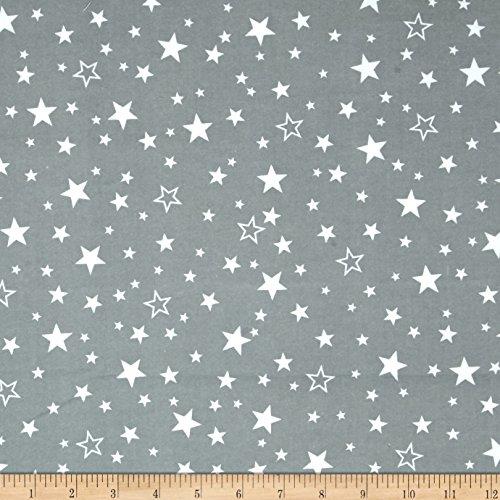 Kaufman Cozy Cotton Flannel Stars Grey Fabric By The Yard