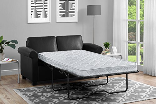DHP Premium Sofa Bed, Pull Out Couch, Sleeper Sofa with Pull Out Bed, Twin  Size Black Faux Leather Sofa Sleeper, Coil Mattress Included, Convertible  ...