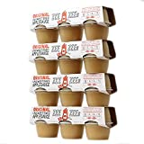 Zee Zees Unsweetened Original Applesauce Cups, All Natural, No Sugar Added, 4 oz Cups, 24 pack