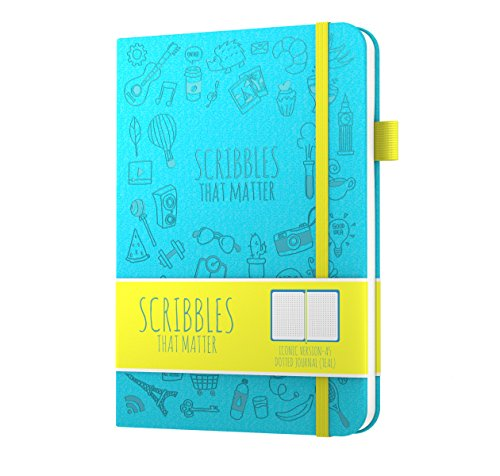 Scribbles That Matter (Iconic) Dotted Journal Notebook Diary A5 – Teal