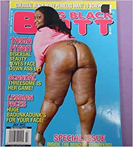 Big Black Butt Magazine Covergirl Tasia Fiyah July 2012 Hawk Amazon Com Books