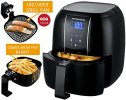 Ovente Electric Air Fryer with 6 Preset Functions, LED Display,...