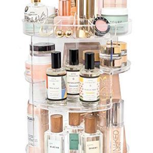 Rotating Makeup Organizer by Tranquil Abode | 360 Spinning Storage Display Case for Skincare, Perfume, Cosmetic, Beauty… 47