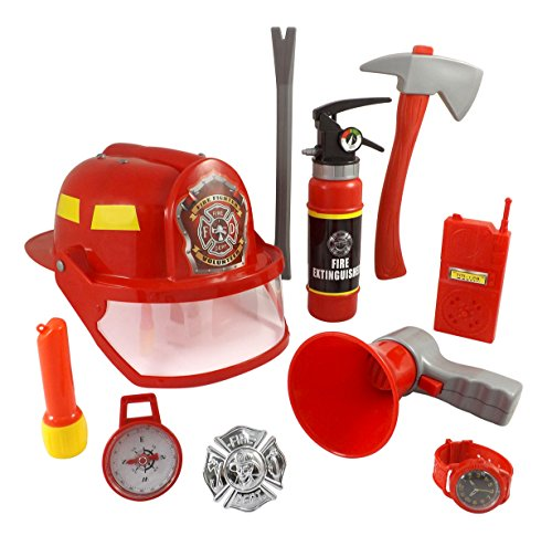 10 pcs fireman gear firefighter costume role play toy set for kids