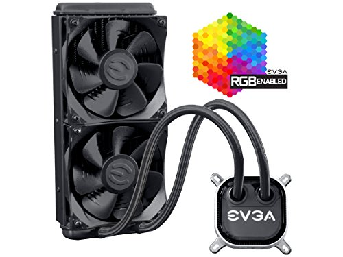EVGA CLC 240 Liquid/Water CPU Cooler, RGB LED Cooling 400-HY-CL24-V1