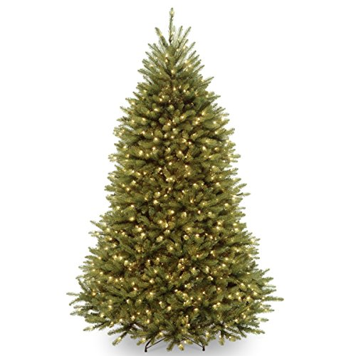 National Tree 7.5 Foot Dunhill Fir Tree with 750 Clear Lights, Hinged (DUH-75LO)