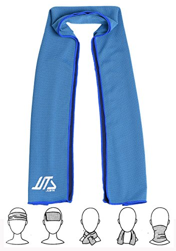 JUSTA - Instant Cooling Towel, Super Absorbent Snap Cooling Towels for Sports and Fitness (40''x12')